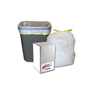 13 Gallon Tape Tie Low Density Trash Bag Case of 60