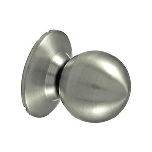 Ball Passage Knob Satin Nickel