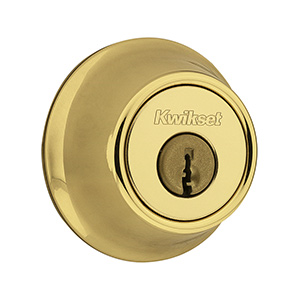 Kwikset 660 Single Cylinder Deadbolt Polished Brass No Latch