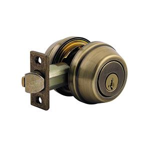 Kwikset SmartKey 599 Gate Latch Antique Brass