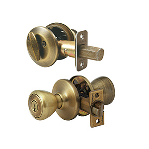 Kwikset Deadbolt/Tylo Entry Combo Antique Brass