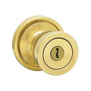 Kwikset Abbey Entry Knob Polished Brass