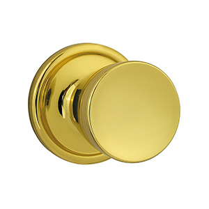 Kwikset Abbey Passage Knob Polished Brass