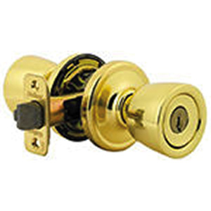 Kwikset Abbey Storeroom Knob Polished Brass