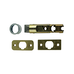 Kwikset Universal Adjustable Deadlatch Polished Brass