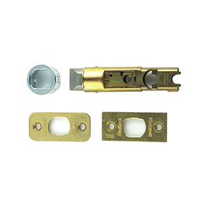 Kwikset Universal Adjustable Springlatch Polished Brass