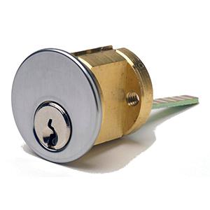 Ilco Rim Cylinder Schlage Keyway Satin Chrome