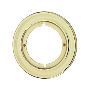 "Kwikset Round Trim Rosette 3-3/16"" Polished Brass"
