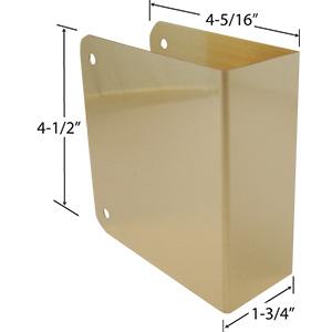 "Door Reinforcer Blank 4-5/16"" x 4-1/2"" Polished Brass"