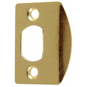 Strike Plate Universal Polished Brass