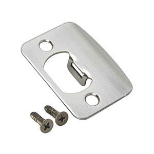 Strike Plate Universal Satin Chrome