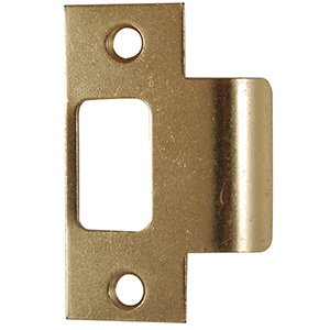 "T-Strike Plate 2-1/4"" x 1-7/16"" Polished Brass"