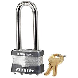 Master Lock # 1KA Long Shackle Padlock Keyed Alike #2001