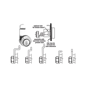 National Exterior Multi-Cam Mailbox Lock C8735