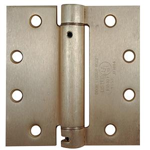 "Door Hinge Self-Closing Square Corner 4"" Polished Brass"