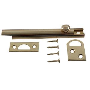 Door Surface Slide Bolt Polished Brass