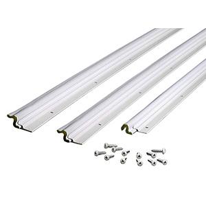 Door Seal Set Aluminum/Foam Weatherstrip White