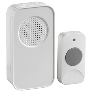 Wireless Battery-Operated Door Chime White