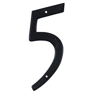 """4"""" Numbers Black """"5"""""""