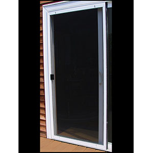 "Screen Door Adjustable Steel 30"" Gray"
