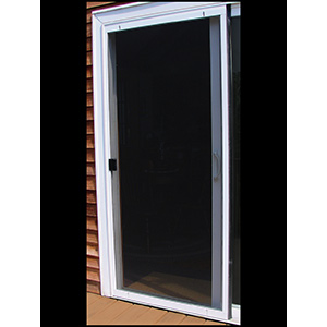 "Screen Door Adjustable Steel 48"" Gray"