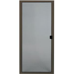 """Screen Door Adjustable Steel 48"""" Bronze"""