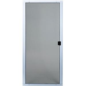 """Screen Door Adjustable Steel 48"""" White"""