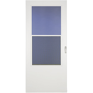 "Larson Value Core Storm Door Self-Storing 32"" x 80"" White"