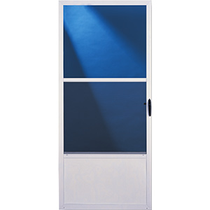 "Comfort-Bilt Storm Door Self Storing 36"" x 80"" White"