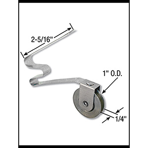 "Screen Door Tension Roller Assembly 1"" Steel Wheel"