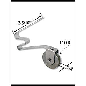 """Screen Door Tension Roller Assembly 1"""" Steel Wheel"""
