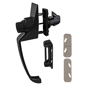 "Storm Door Push-Button Latch Black 1-3/4"" Centers"