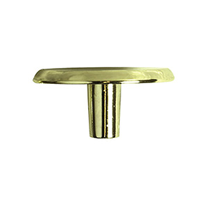 Cabinet Knob Polished Brass 1-1/2""