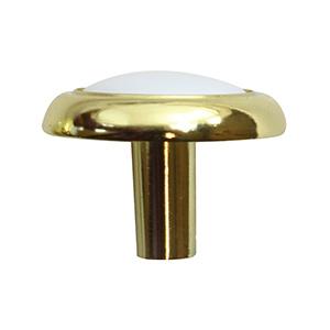 """Cabinet Knob Brass/White 1-1/4"""""""