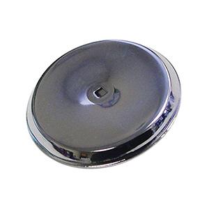 "Bifold Door Knob Backplate Chrome 2-3/4"""