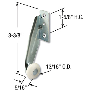 Drawer Rear Roller Right Hand