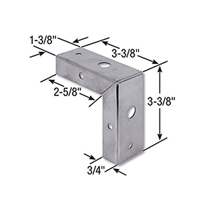"Bifold Door Corner Repair Bracket 1-3/8"" Door"