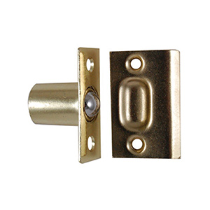 Door Ball Catch Polished Brass