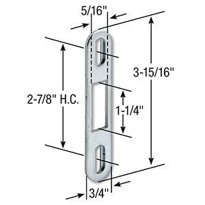 Sliding Patio Door Keeper Zinc Plated