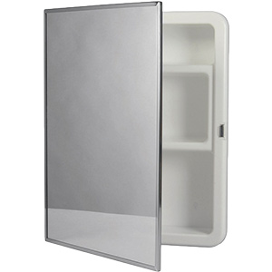 "Surface Mount Medicine Cabinet Framed Mirror 16"" x 20"""