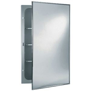 "Surface/Recessed Medicine Cabinet Framed Mirror 16"" X 26"""