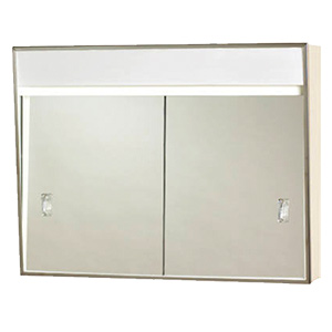 "Surface Medicine Cabinet Sliding Mirror with Light 24"" x 18"""