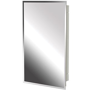 "Surface/Recessed Medicine Cabinet Beveled Mirror 16"" x 26"""