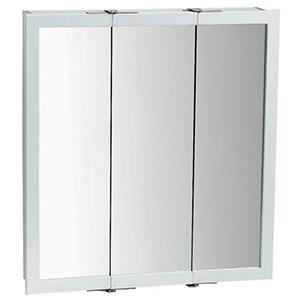 "Surface Mount Tri-View Medicine Cabinet 24"" X 24"" White"