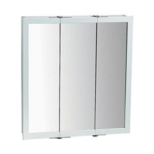 "Surface Mount Tri-View Medicine Cabinet 30"" X 24"" White"