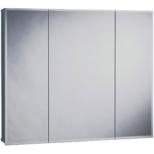 "Surface Beveled Mirror Tri-View Medicine Cabinet 24"" x 26"""