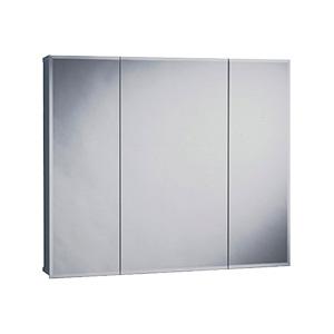 "Surface Beveled Mirror Tri-View Medicine Cabinet 30"" x 25"""