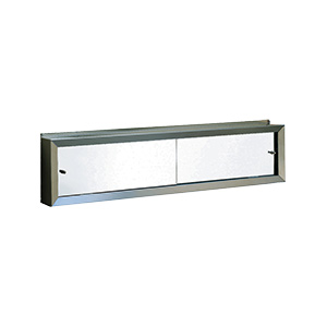 "Sliding Mirrored Door Cosmetic Box 24"" x 9"""