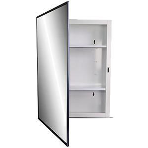 "Surface Mount Medicine Cabinet Framed Mirror 16"" x 22"""