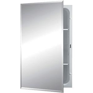"Recessed Medicine Cabinet Beveled Mirror 16"" x 26"""